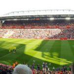 Utsikt från Vings Anfield Beat Lounge